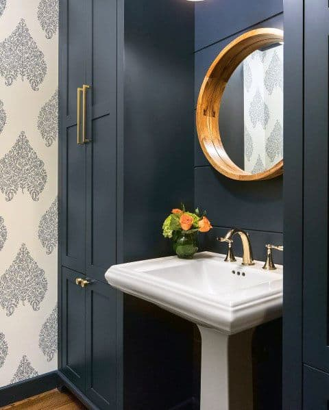 Top Best Blue Bathroom Ideas Navy Themed Interior Designs