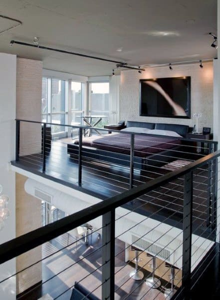 Cable Railing Bedroom Loft Ideas