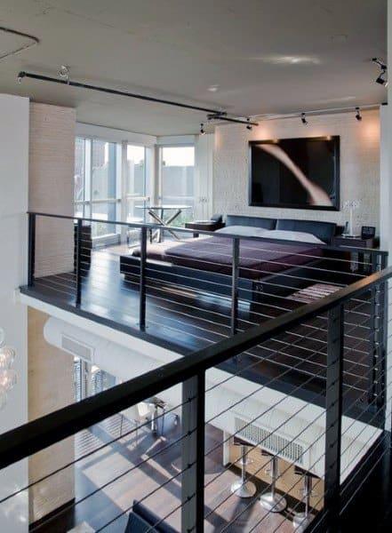 Cable Railing Bedroom Loft Ideas