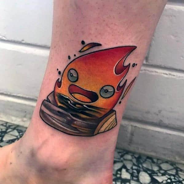 Calcifer Tattoo Designs For Guys