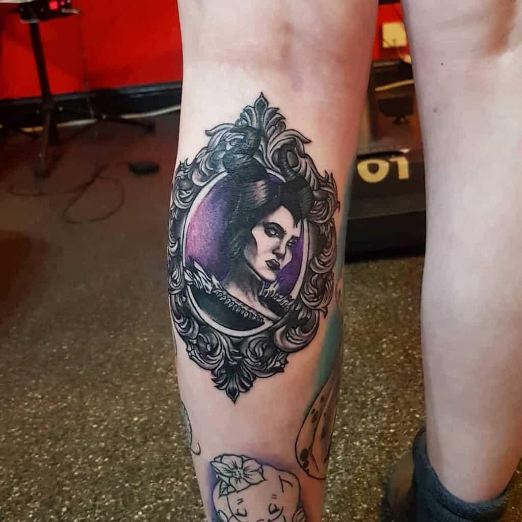 Calf Maleficent Tattoos Katieetattooist