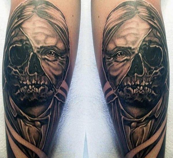 Calf Tattoos Men