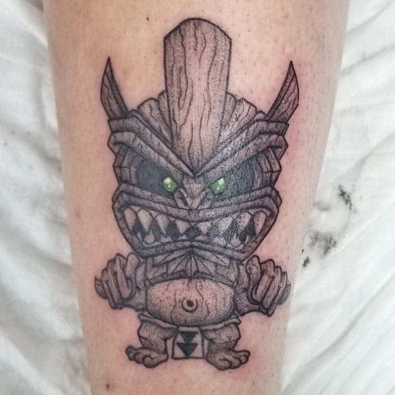 Calf Tiki Tattoo Pufftronic 2