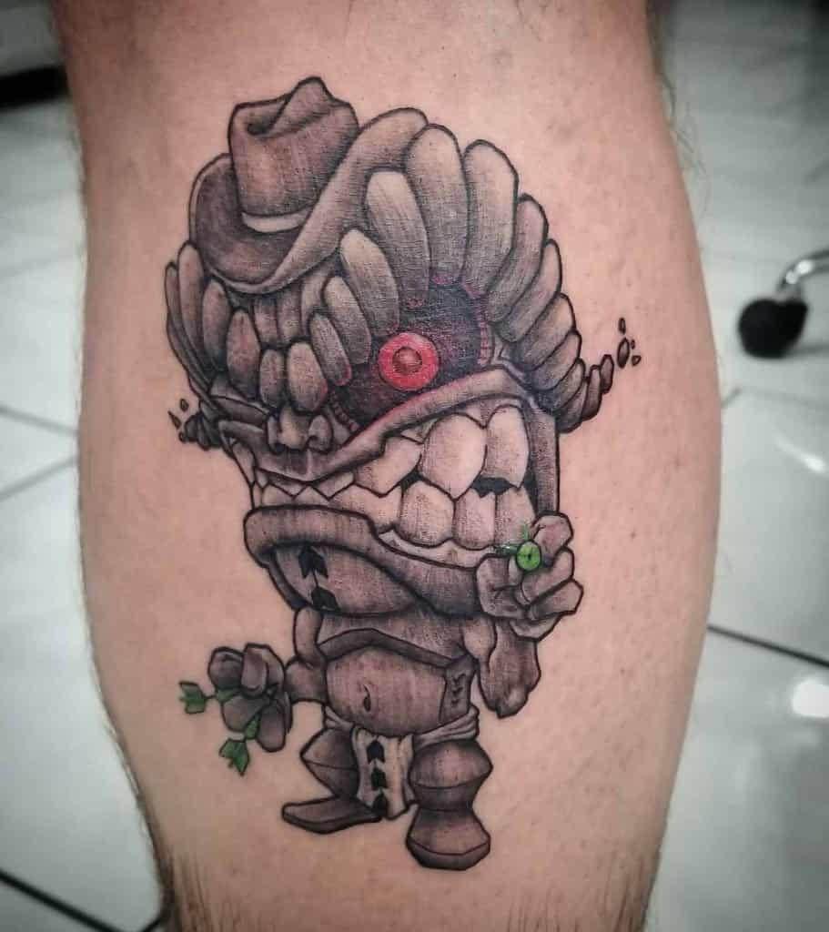 Calf Tiki Tattoo Pufftronic