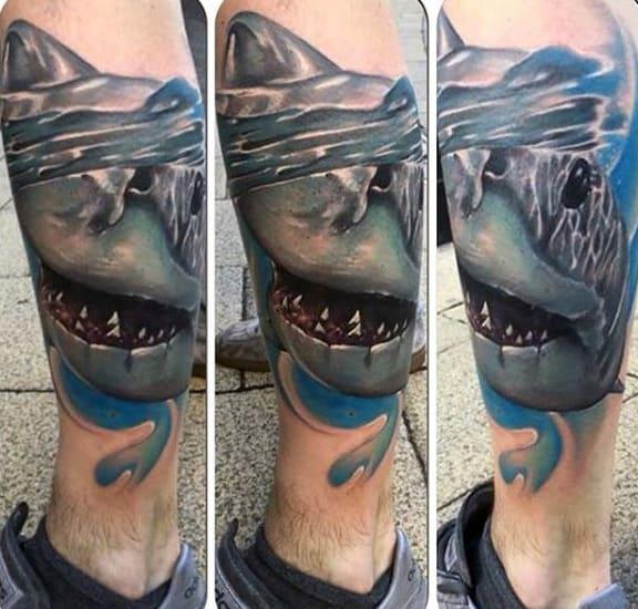 Shark Calf Tribal Tattoos For Men