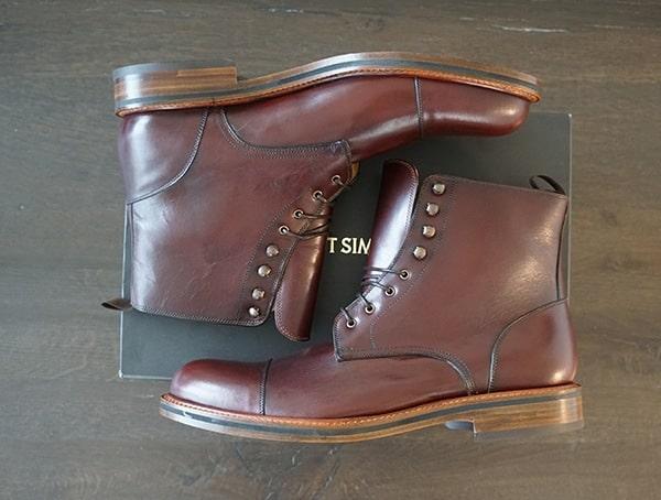 Calfksin Leather Beckett Simonon Dowler Cap Toe Boots For Men