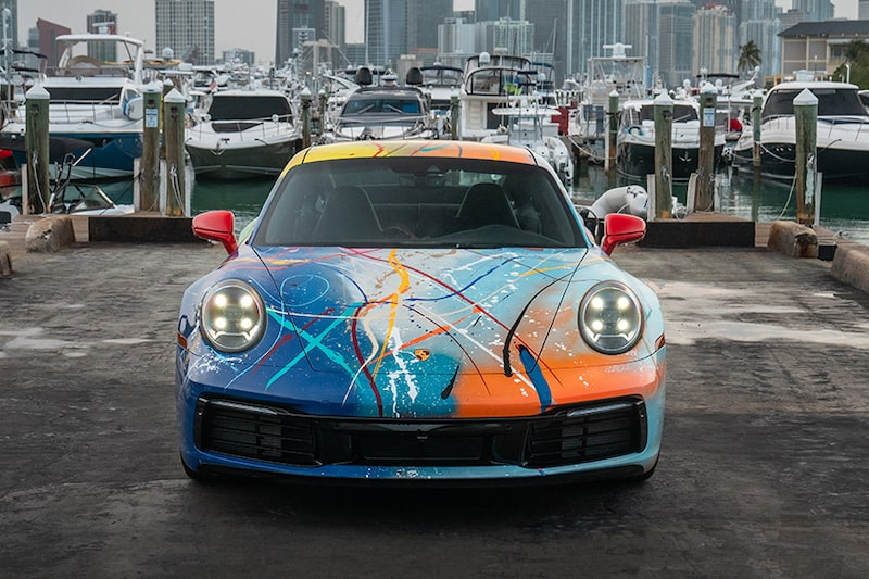 Technicolor Porsche Created by Miami Artist and Rick Ross Heading to Auction