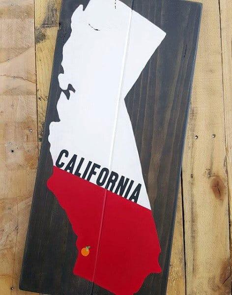 California Diy Wood Board Man Cave Decor