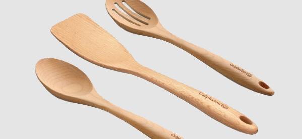Calphalon 3-Piece Wood Utensil Tools Set