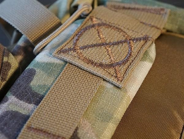 Camelbak Bfm Backpack Stiching Detail On Top Of Shoulders