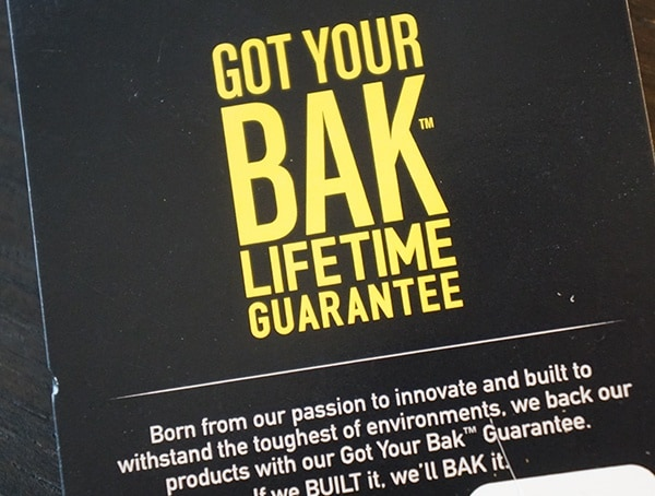 Camelbak Got Your Bak Lifetime Guarantee Tag