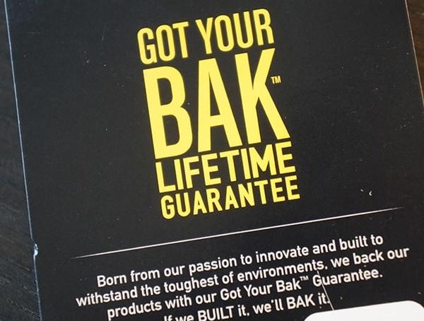 Camelbak Got Your Bak Lifetime Guarantee Tag