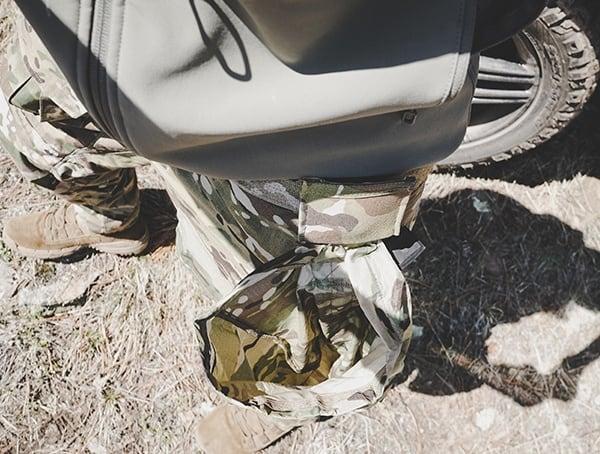 Camo Blue Force Gear Belt Mounted Tactical Dump Pouch