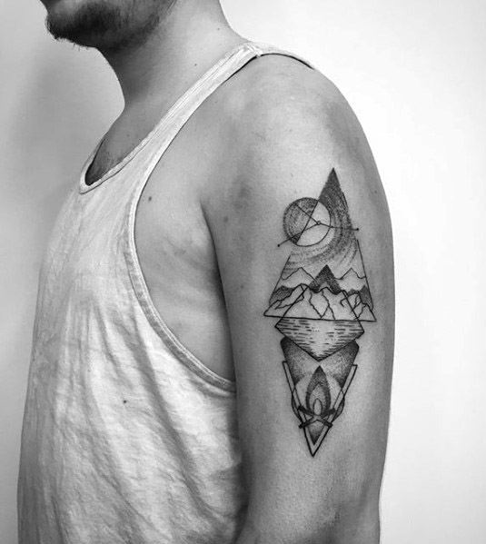 Campfire Tattoo Ideas For Males