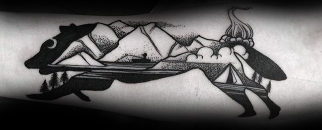 60 Camping Tattoos For Men – Wilderness Design Ideas