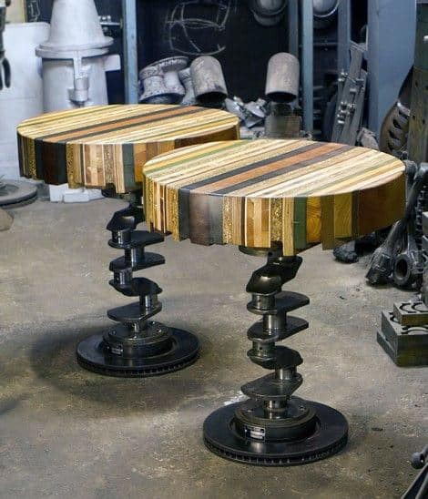 75 Man Cave Furniture Ideas For Men Manly Interior Designs : camshaft car parts bar stool man cave furniture from nextluxury.com size 470 x 548 jpeg 58kB