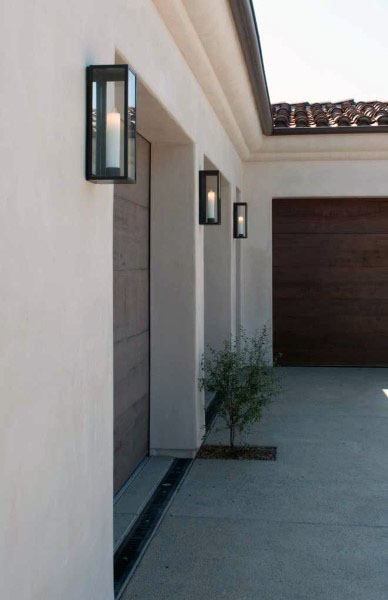 50 Outdoor Garage Lighting Ideas - Exterior Illumination Designs