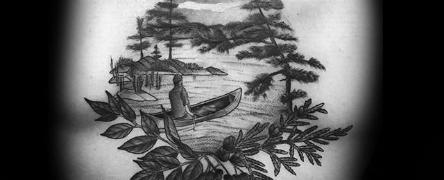 Canoe Tattoo Designs For Men