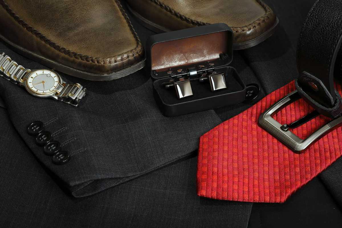 Variety,Of,Formal,Men's,Clothing,Closeup