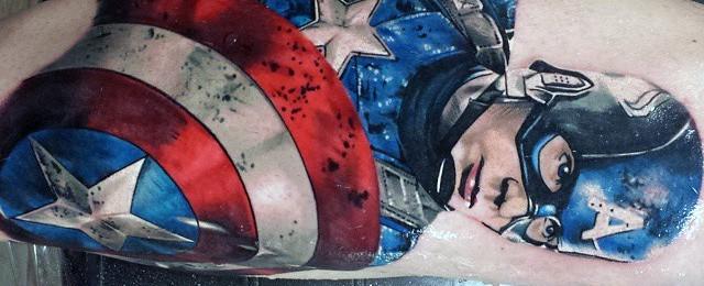 70 Captain America Tattoo Designs For Men – Superhero Ink Ideas