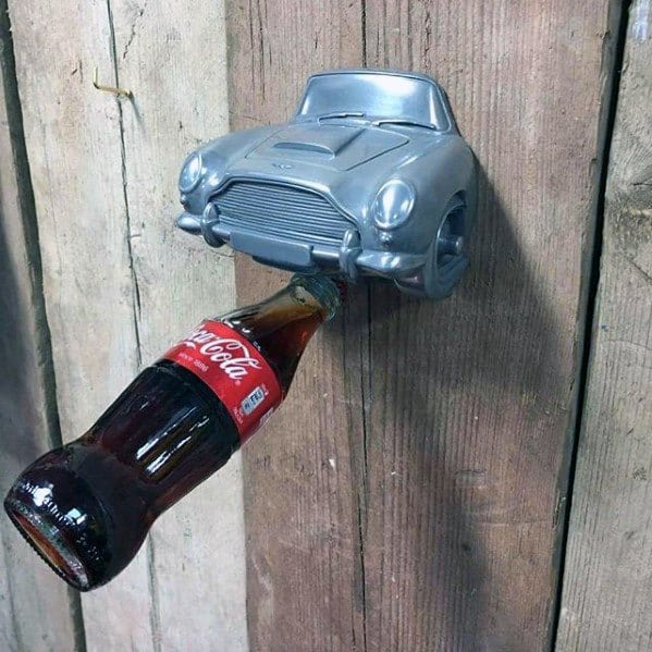 Car Hood Bottle Opener Mens Bachelor Pad Decor Inspiration