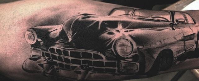 70 Car Tattoos For Men – Cool Automotive Design Ideas