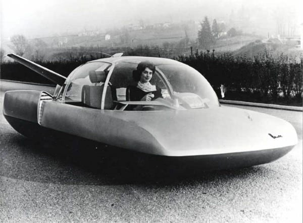 Car With Strange Glass Dome Design