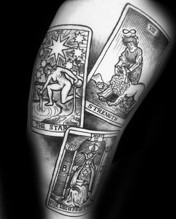 Cards Masculine Tarot Tattoos For Men