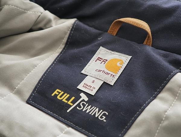Carhartt Full Swing Jacket Interior Tag
