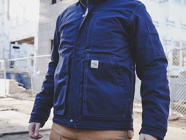 Carhartt Full Swing Quick Duck Flame Resistant Lanyard Access Mens Work Jacket Review