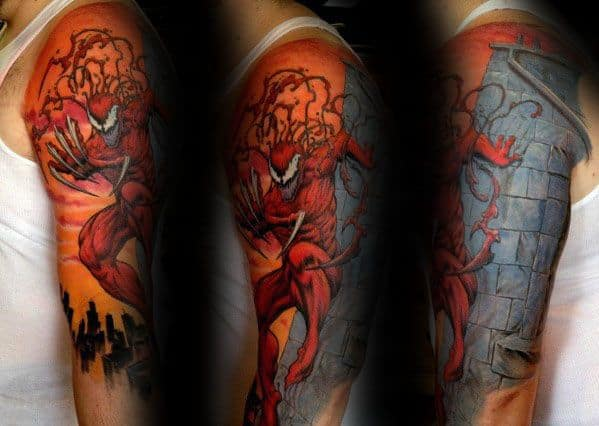 Carnage Tattoo Ideas For Males Half Sleeve