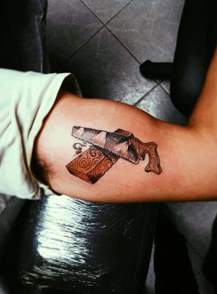 Carpenter Tattoo For Males