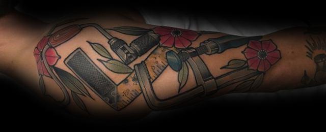 60 Carpenter Tattoos For Men – Carpentry Design Ideas