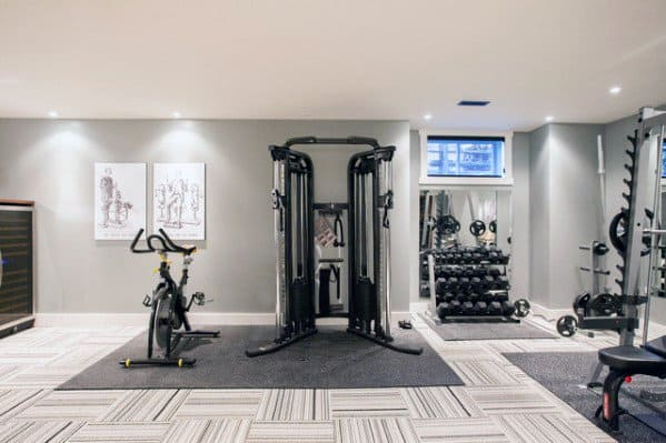 Carpet Home Gym Flooring Interior Ideas