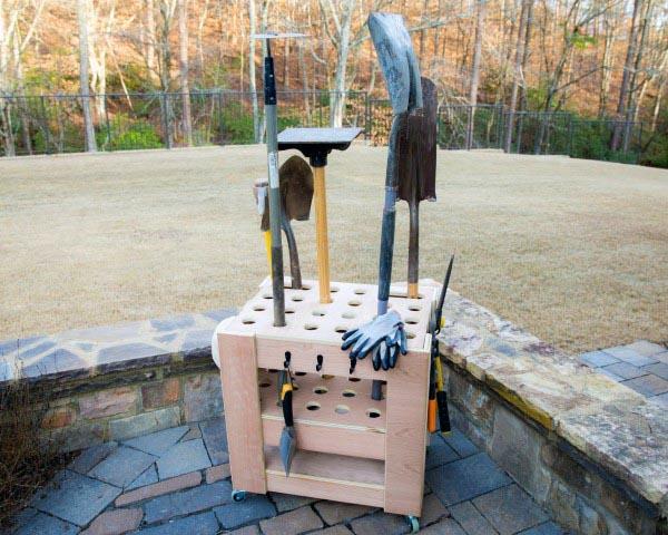 Cart Garden Tool Storage Ideas
