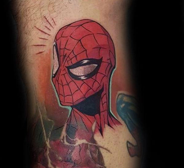 Cartoon Spiderman Tattoo Design Ideas For Males