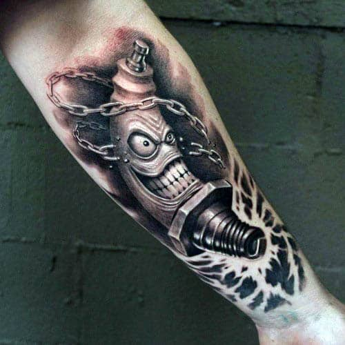 real butterfly tattoos pictures designs ideas - 70 Spark Plug Tattoo Designs For Men Cool bustion Ink