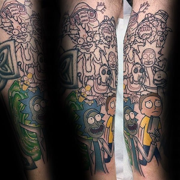 Cartoon Tattoo Ideas For Gentlemen