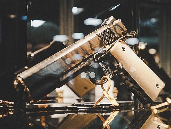 Case Hardended 1911 Pistol
