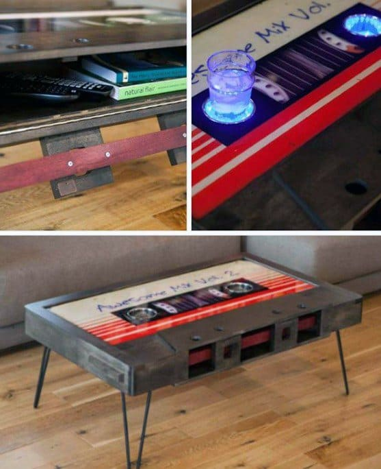 Cassette Tape Diy Man Cave Ideas Coffee Table