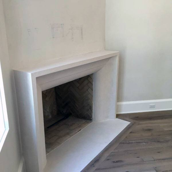 Cast Concrete Fireplace Mantel Design