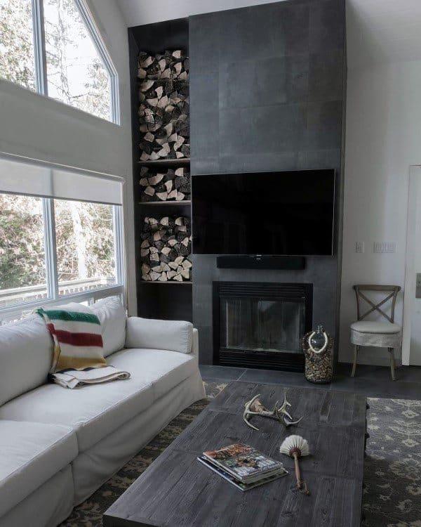 Cast Concrete Fireplace Sourronds