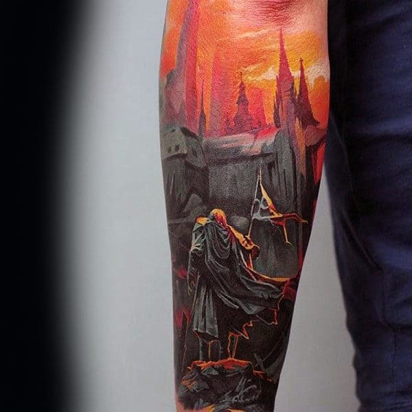 Castle Mens Orange Sky Tattoo