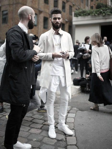 Casual Fall Mens All White Outfit Ideas