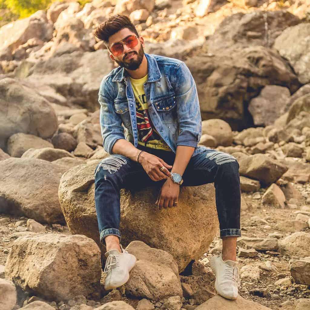 Veste en jean mode décontractée