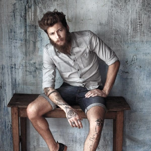 Casual Fashion Mens Awesome Beard Style Designs