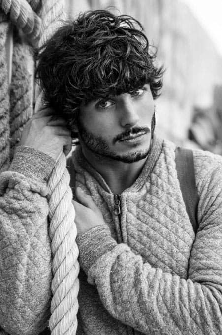Stupendous 50 Long Curly Hairstyles For Men Manly Tangled Up Cuts Short Hairstyles For Black Women Fulllsitofus