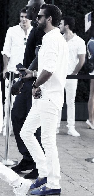 Casual Pants With Dress Shirt All White Outfits For Men