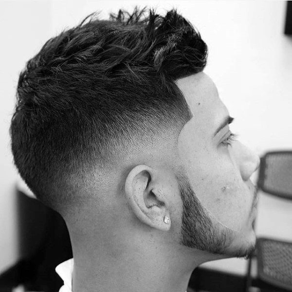 Casual Short Hair Fade For Guys