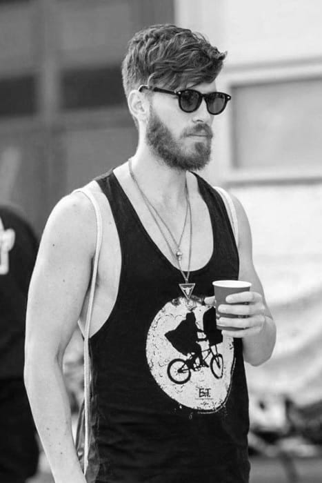 Casual Wavy Mens Hipster Hairstyles